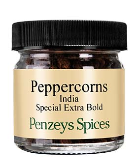 Whole Special Extra Bold Indian Black Peppercorns