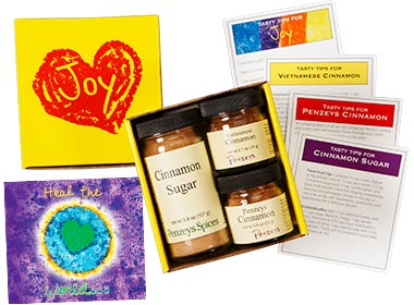 spices at penzeys joy of cinnamon mini gift box