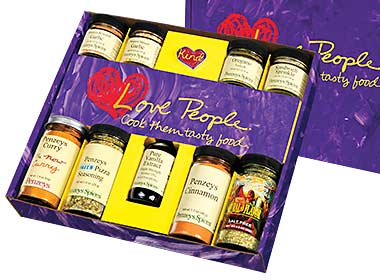 Love People 9 Jar Gift Box-Purple
