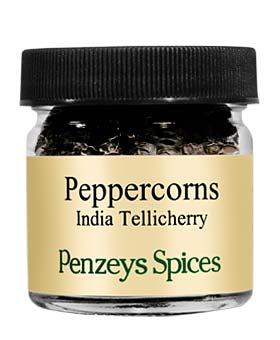 Whole Tellicherry Indian Black Peppercorns